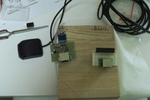 GPSモジュールをUSBとパラレルポートに接続する回路の製作